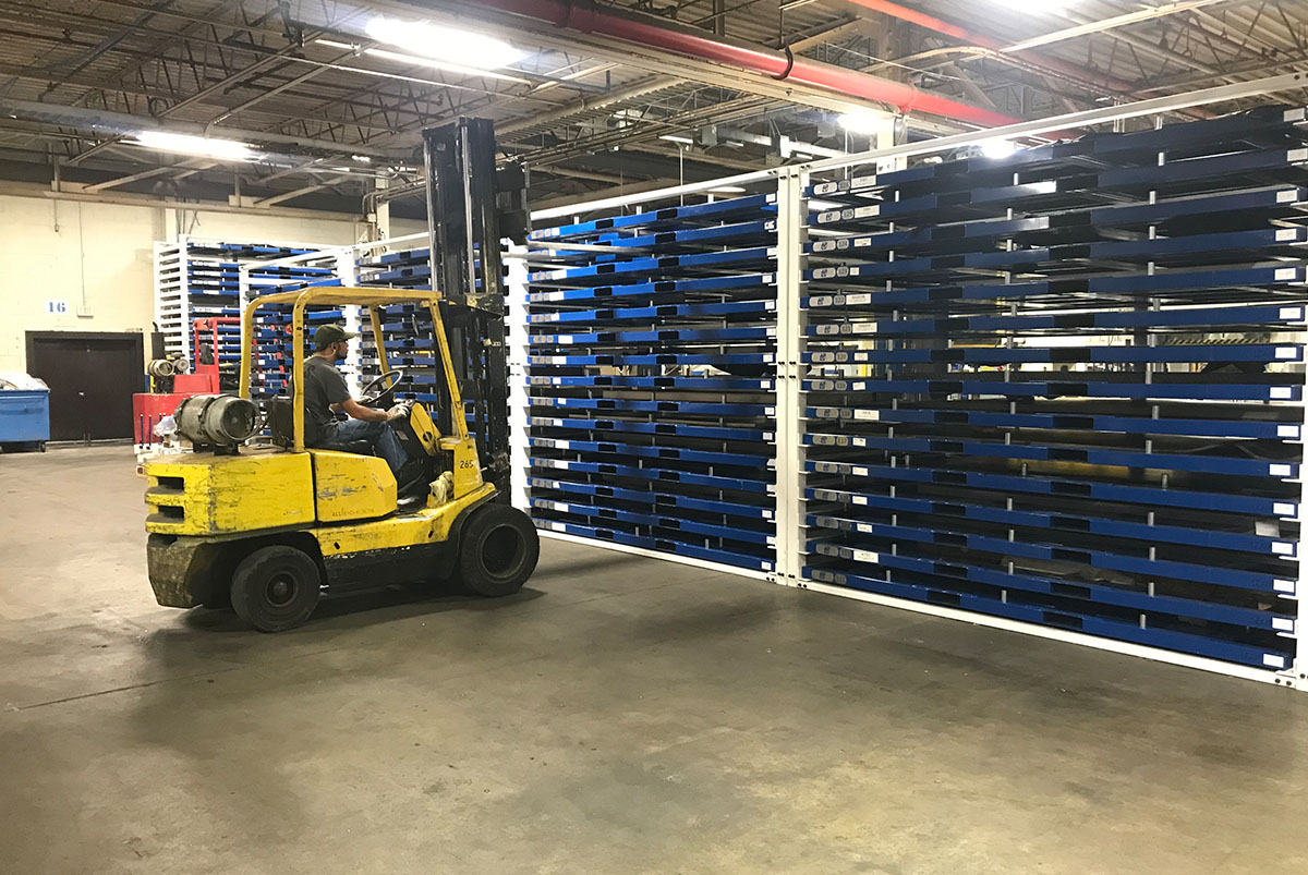 Forklift Sheet Metal Rack