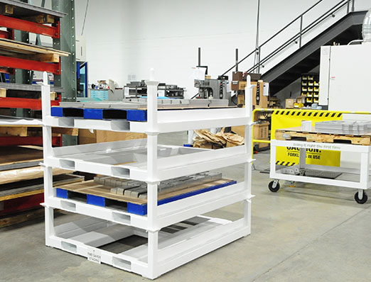 Four Stacking Pallet Racks