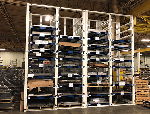 Work Cell Staging Rack