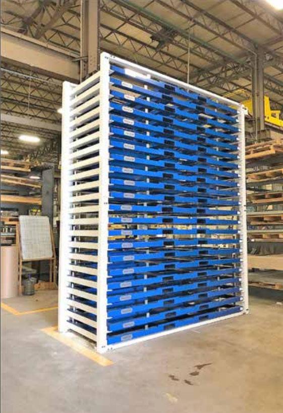Operators using metal storage system
