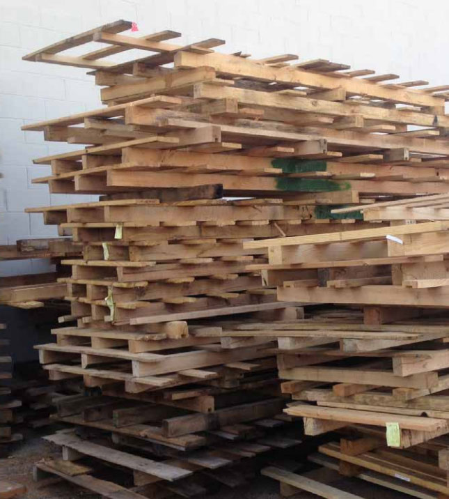 Tired of wooden pallets stacking up on the floor?